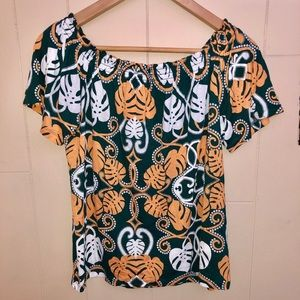 H&M NWT printed off the shoulder Top